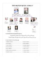 English Worksheet: The British Royal Family Part 1