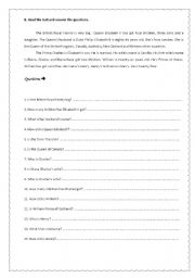 English Worksheet: The British Royal Family Part 2