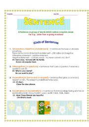 English Worksheets: Kinds of Sentence