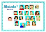 English Worksheets: WHO�S WHO ? face pairwork !!!!!!!!!!!!!!!!!!!!!!!!!!!!!!!!!!!!!!!!! #2 - 2/2