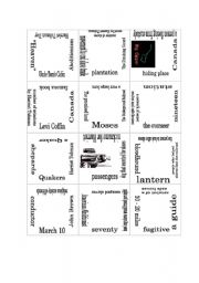 English worksheets: Puzzle: The Underground Railroad
