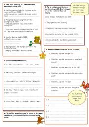 English Worksheets: I started to learn English 2 years ago. 2nd part