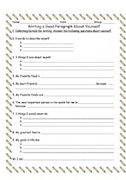 A yourself about paragraph write to how How to