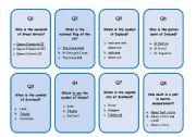 English Worksheet: Great Britain Trivia GAME 1/3