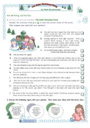 English Worksheet: 3rd (2nd part) and 4th lessons for 2009  -  Pre-writing + writing + rewriting