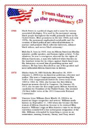 From slavery to presidency part 2 (of 3) - 3 pages