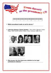From slavery to presidency part 3(of 3) 2 pages