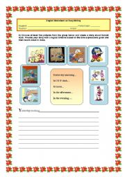 English Worksheets: Let�s get writing!
