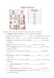 English Worksheet: Subject Pronouns