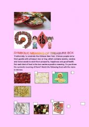 English Worksheet: Festival / Chinese New Year custom : Chinese Treasure Box