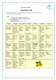 English Worksheets: Monthly Journal