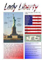English Worksheets: Lady Liberty 1/5