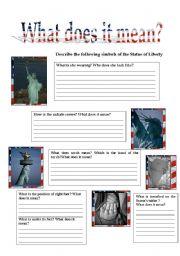 English Worksheets: Lady Liberty 4/5