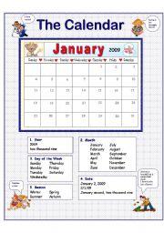worksheet: The Calendar