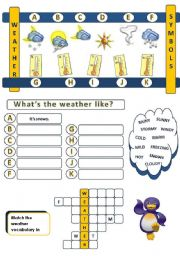 English Worksheet: WHAT´S THE WEATHER LIKE - PART 1