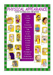 English Worksheet: Physical appearance