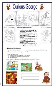 English worksheet: Curious George