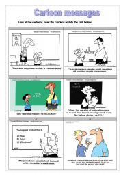 English Worksheet: Cartoon Messages