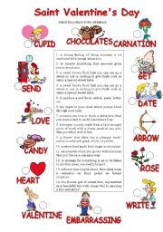 English Worksheets: Valentine´s Day Match