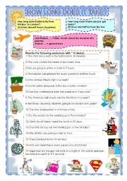 English Worksheets: HOW LONG DOES IT TAKE?