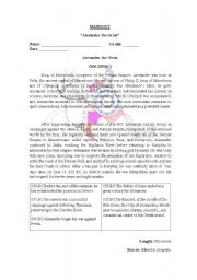 English Worksheets: Alexander the great