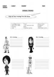 English Worksheet: URBAN TRIBES: WHAT ARE THEY WEARING?