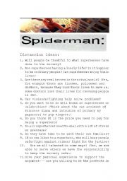 English Worksheet:  Spiderman I