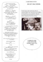 English Worksheet: CALIFORNICATION RED HOT CHILI PEPPERS