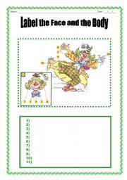 English Worksheets: Face and body