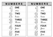 1-5 Numbers - Information (colouring)