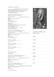 English Worksheets: Let�s sing along - Start All Over by Miley Cyrus