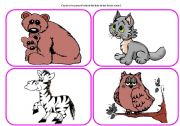 English Worksheets: Who`s in the forest? - practising animals (part 2 / 6)
