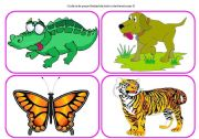English Worksheets: Who`s in the forest? - practising animals (part 3 / 6)