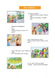 English Worksheets: The Visitors - Listening Comprehension