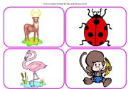 English Worksheets: Who`s in the forest? - practising animals (part 4 / 6)