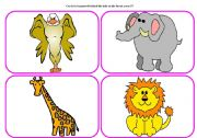 English Worksheets: Who`s in the forest? - practising animals (part 5 / 6)