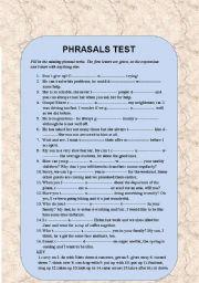 English Worksheet: Phrasal verbs introduction 3