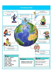 English Worksheet: Nationalities