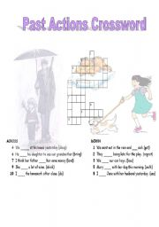 English Worksheets: Past Actions Crossword