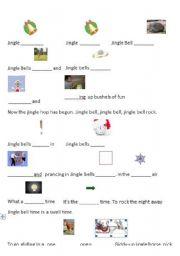 English Worksheet: Jingle Bell Rock Worksheet