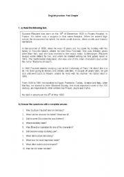 English Worksheets: Gustave Flaubert
