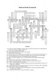 Medicine Words Crosswords