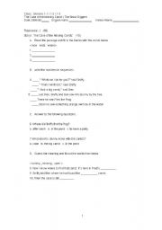 English Worksheets: reading exam questions