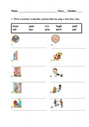 English Worksheets: Male a sentence from the word