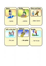 English Worksheets: Go Fish Playing Cards - 3 of 3