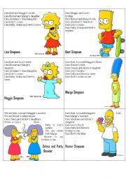 Simpsons Family Flashcards