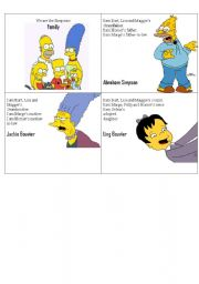 English Worksheet: Simpsons Family Flashcards 2