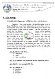 English Worksheets: Narrating-Telling a Story (Author-Bouabdellah)