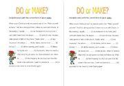 Do or make?