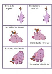 Prepositions with roo from Winnie the Pooh 1/3